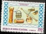 Sellos del Mundo : Africa : Guinea_Ecuatorial : Instrumentos musicales - etnia Fang