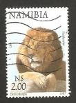 Sellos del Mundo : Africa : Namibia : león pantera