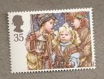 Sellos del Mundo : Europa : Reino_Unido : Escenas navideñas infantiles