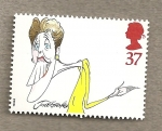 Sellos de Europa - Reino Unido -  Caricaturas comediantes