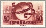 Sellos de Europa - España -  L X X V ANIVERSARIO DE LA UNION POSTAL