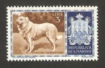 Sellos del Mundo : Europa : San_Marino : Perro de raza, pastor italiano