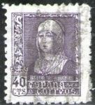 Sellos de Europa - España -  ESPAÑA 1938 858 Sello Isabel la Católica 40c Usado Espana Spain Espagne Spagna Spanje Spanien