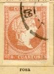 Sellos del Mundo : Europa : España : Isabel II edicion 1857