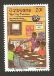 Sellos del Mundo : Africa : Botswana : asociación del plan familiar