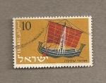 Sellos de Asia - Israel -  Barco a vela