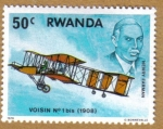 Sellos del Mundo : Africa : Rwanda : VOISIN 1bis(1908) Henry Farman