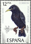 Sellos de Europa - España -  ESPAÑA 1985 2822 Sello Nuevo Aves Pajaros Estornino Negro Espana Spain Espagne Spagna Spanje Spanien