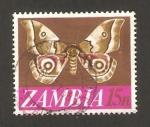 Sellos del Mundo : Africa : Zambia : mariposa, nudaurelia zambesina