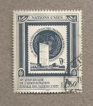 Sellos de America - ONU -  40 Aniv, de la administación postal de la ONU