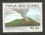 Sellos del Mundo : Oceania : Papúa_Nueva_Guinea : anivº de la erupción del volcán rabaud