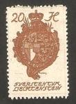Sellos de Europa - Liechtenstein -  escudo de armas
