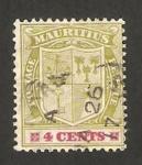Sellos del Mundo : Africa : Mauricio : escudo de armas de eduardo VII