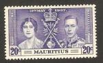 Sellos del Mundo : Africa : Mauricio : coronación de george VI, con elizabeth