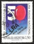 Sellos de America - Argentina -  50 ANIVERSARIO DE LRA RADIO NACIONAL
