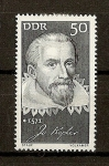 Sellos de Europa - Alemania -  Personalidades / Johannes Kepler / DDR