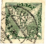 Sellos del Mundo : Europa : Checoslovaquia : Aguila (sellos para los periodicos)