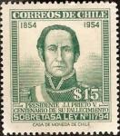 Sellos del Mundo : America : Chile : Presidente J.J. Prieto V.