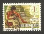 Sellos del Mundo : Oceania : Papúa_Nueva_Guinea : grabando en madera