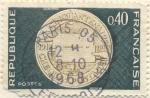 Sellos del Mundo : Europa : Francia : Cinquantenaire des cheques postales