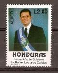Sellos del Mundo : America : Honduras : RAFAEL  LEONARDO  CALLEJAS