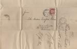 Sellos del Mundo : Europa : Alemania : ALEMANIA, CARTA DE 1880 CON SELLO DE BAYERN De 10 pfennig rojo rosáceo.