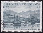 Sellos del Mundo : Oceania : Polynesia : Ll egada de un barco 1880