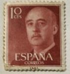 Sellos del Mundo : Europa : España : Franco 10 cts