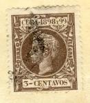 Sellos de America - Cuba -  Alfonso XII 1898-99