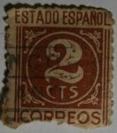 Sellos del Mundo : Europa : España : Estado Español 2 centimos