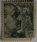 Sellos del Mundo : Europa : España : Franco 50cts 1949