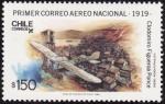 Sellos del Mundo : America : Chile : primer correo aereo-1919