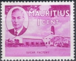 Sellos del Mundo : Africa : Mauricio : MAURICIO 1945 (S235) Fabrica de azucar 1c