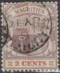 Sellos del Mundo : Africa : Mauricio : MAURICIO 1895-1904 (S94) Escudo de armas 2c