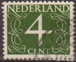 Sellos de Europa - Holanda -  Holanda 1946-57 Scott 284 Sello Serie Numeros 4c usado Netherland