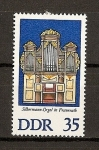 Sellos de Europa - Alemania -  DDR Organos de Silbermann
