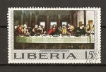 Sellos del Mundo : Africa : Liberia : Santa Cena / Leonardo da Vinci