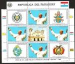 Sellos del Mundo : America : Paraguay : VISITA DE S.S .JUAN PABLO II A PARAGUAY - URUGUAY - BOLIVIA
