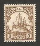 Sellos del Mundo : Oceania : Islas_Marshall : barco imperial hohenzollern