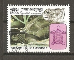 Sellos del Mundo : Asia : Camboya :  Tortugas.