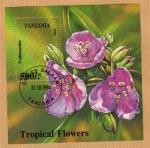 Sellos del Mundo : Africa : Tanzania : Flores Tropicales