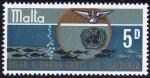 Sellos del Mundo : Europa : Malta : MALTA 1969 Scott 401 Sello Nuevo ** ONU Salvar el Mar Paloma Paz y Anagrama