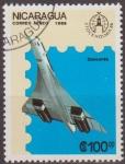Sellos de America - Nicaragua -  Nicaragua 1986 Scott 1559 Sello Avion Aeroplano Concorde Matasello de favor Preobliterado