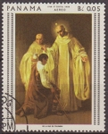 Sellos del Mundo : America : ONU : PANAMA 1959 Scott 481C Sello Nuevo Pinturas de Goya Correo Aereo Santos Bernardo y Roberto matasello