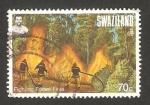 Sellos del Mundo : Africa : Swazilandia : Lucha contra los incendios forestales