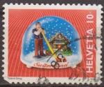 Sellos de Europa - Suiza -  Suiza 2000 Scott 1067 Sello Recuerdos Bola Nieve Tiroles  y Reloj Cuco Michel1709 usado Switzerland