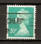 Sellos de Europa - Reino Unido -  Isabel II / Serie Basica / Dentado seguridad