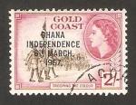 Sellos del Mundo : Africa : Ghana : independencia de Ghana 6 marzo 1957