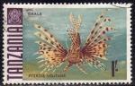 Sellos del Mundo : Africa : Tanzania : Tanzania 1987 Sello Fauna Peces chale Pterois Volitans usado