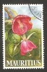 Sellos del Mundo : Africa : Mauricio : flor trochetia boutoniana